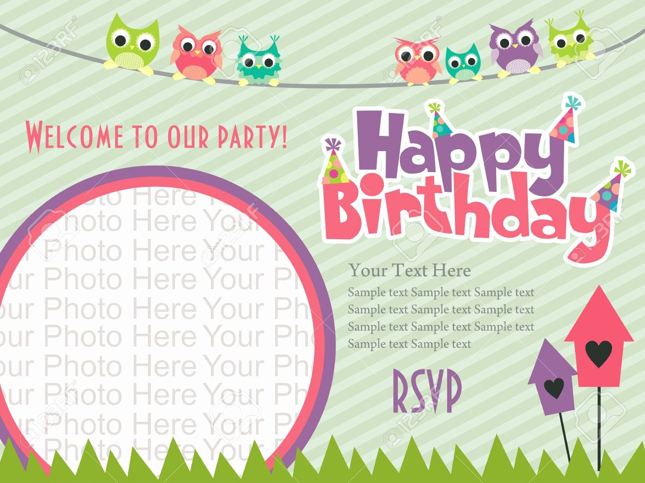 Birthday Party Invitation Card Template Elegant Birthday Invitation Cards Design