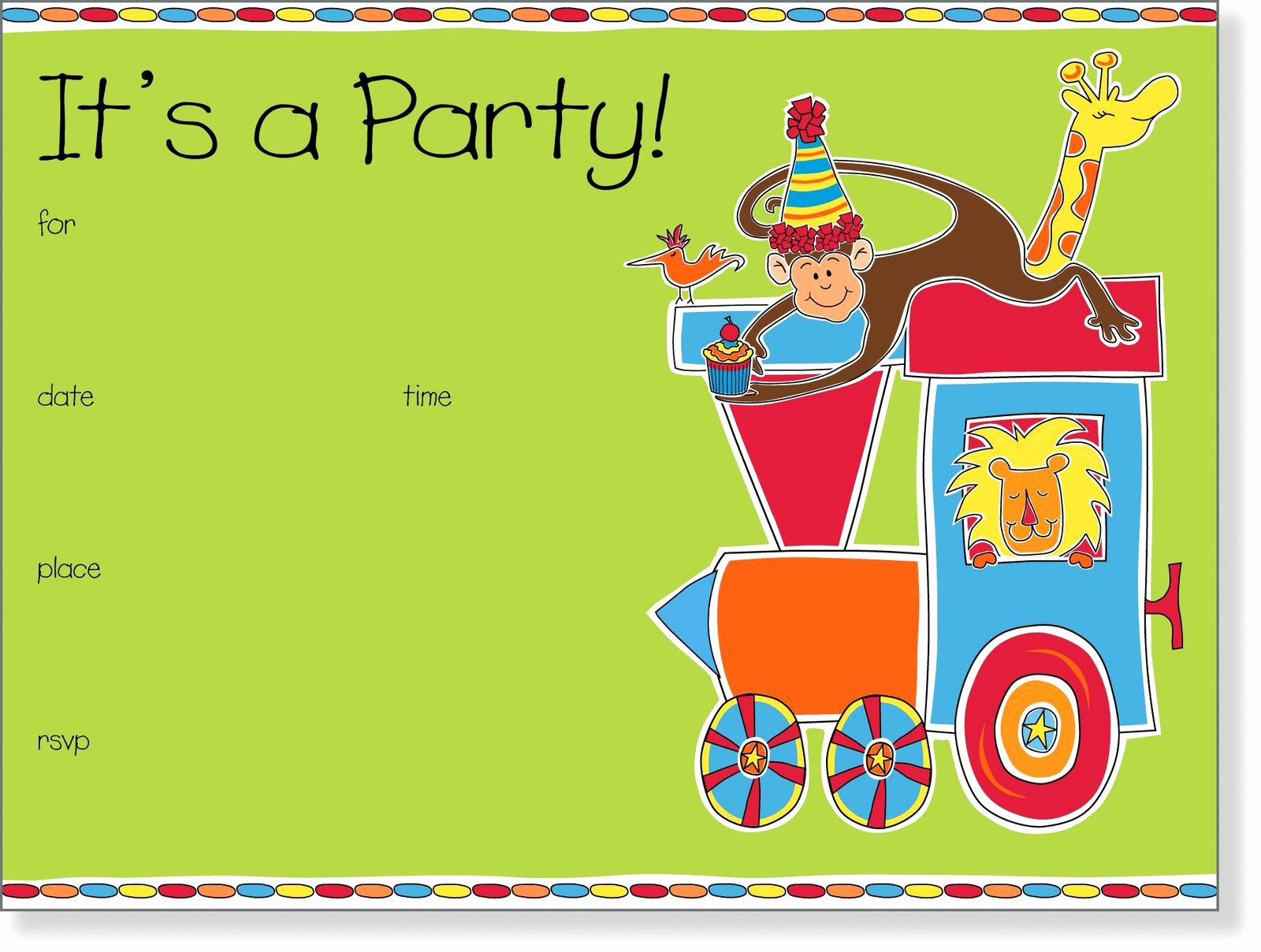 Birthday Party Invitation Card Template Elegant Birthday Invitations Kids Birthday Invite Template