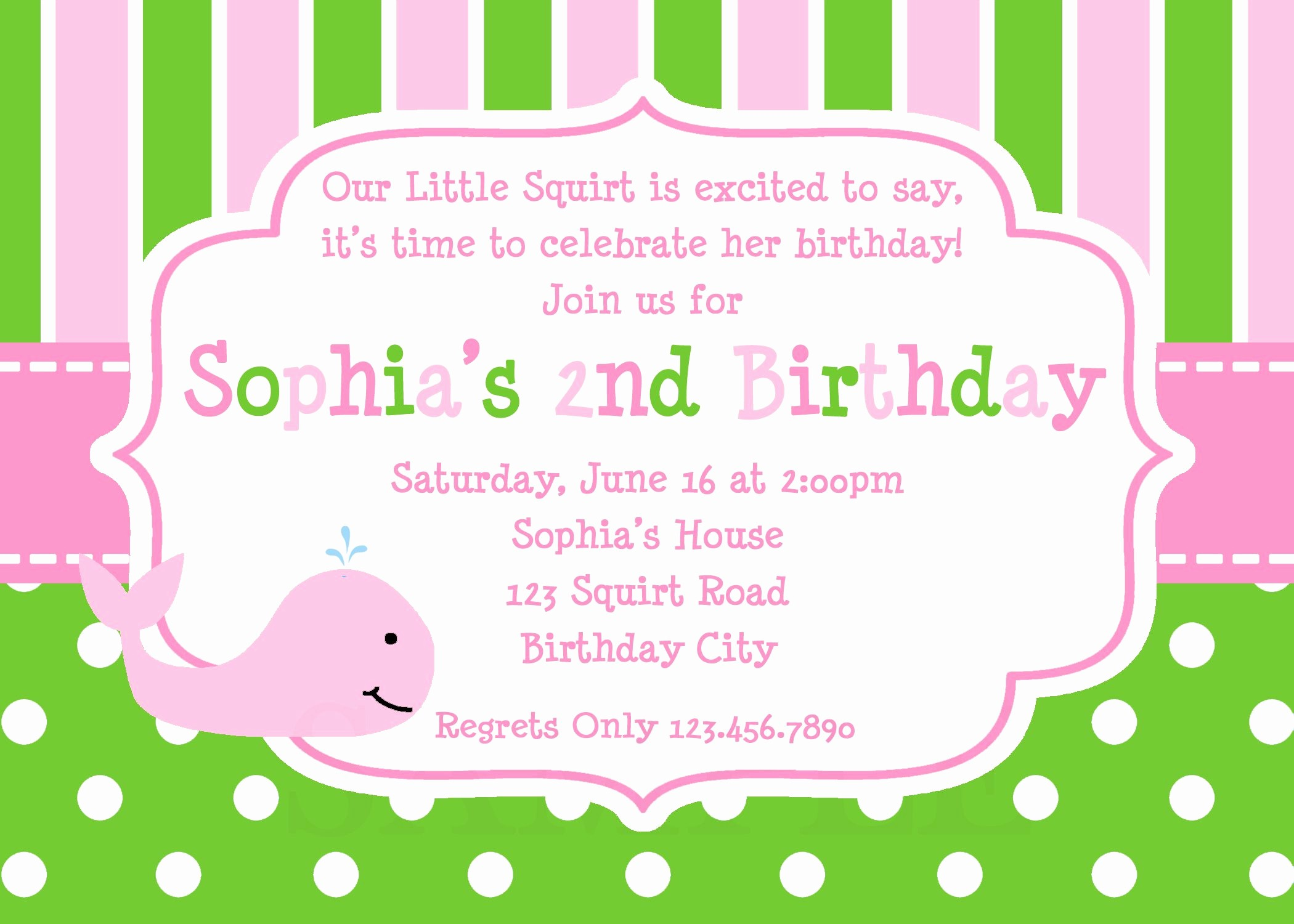 Birthday Party Invitation Card Template Elegant Invitation Birthday Card Invitation Birthday Card