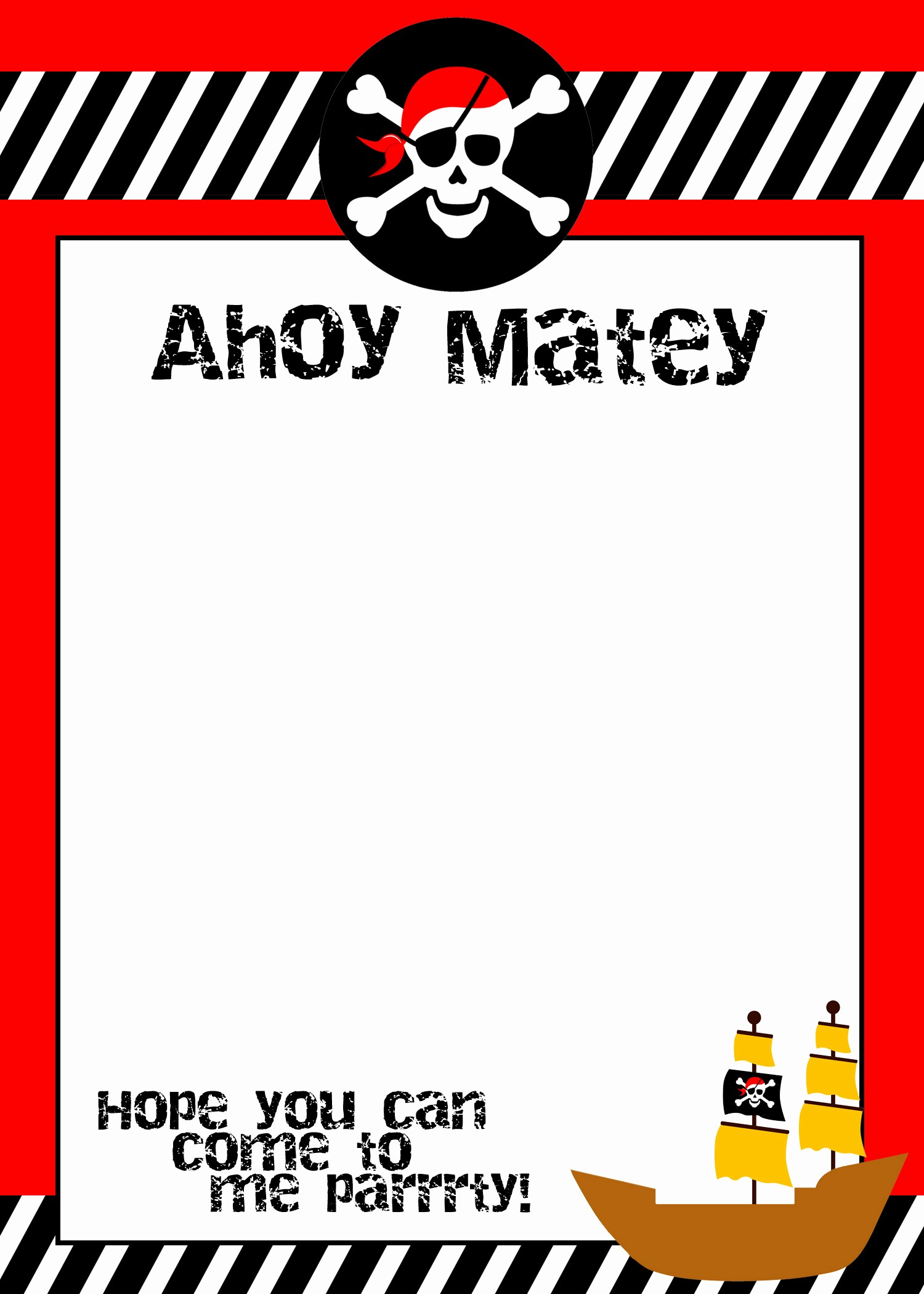 pirate themed birthday party with free printables