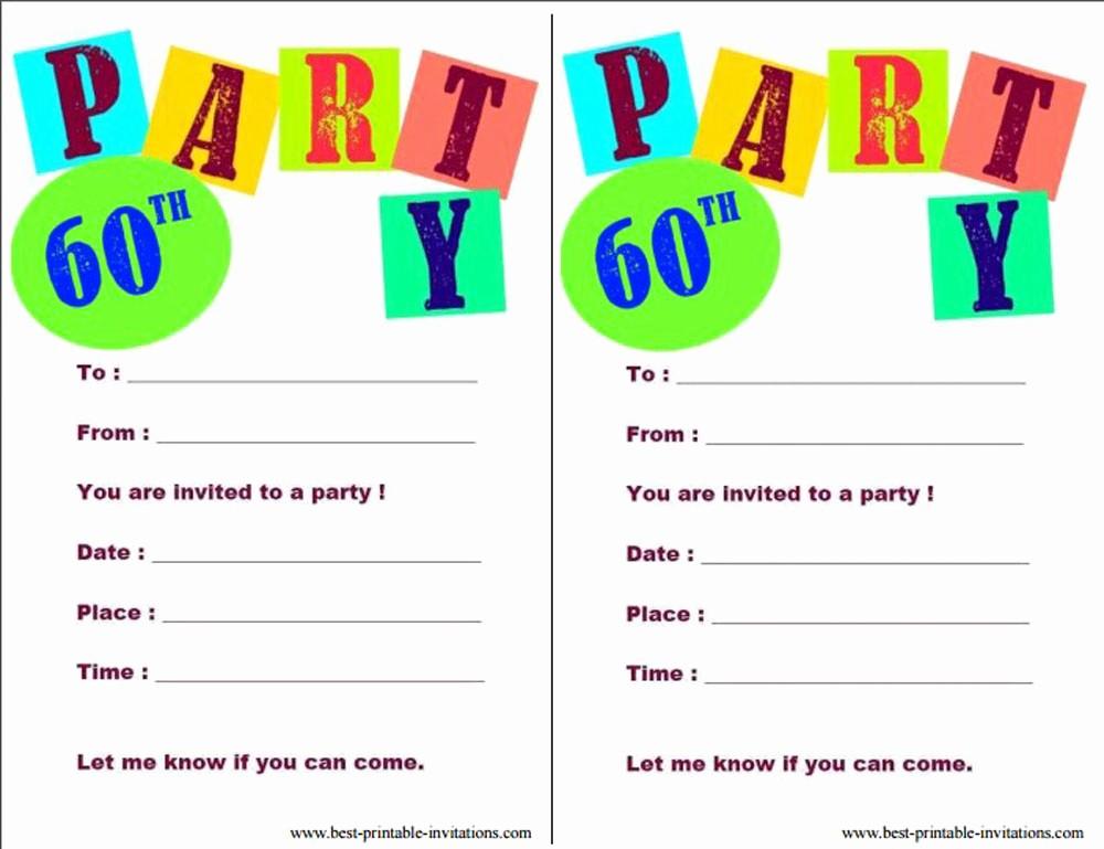Birthday Party Invitation Card Template Fresh 20 Ideas 60th Birthday Party Invitations Card Templates