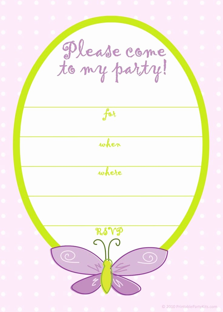 Birthday Party Invitation Card Template Fresh Free Printable Girls Birthday Invitations – Free Printable