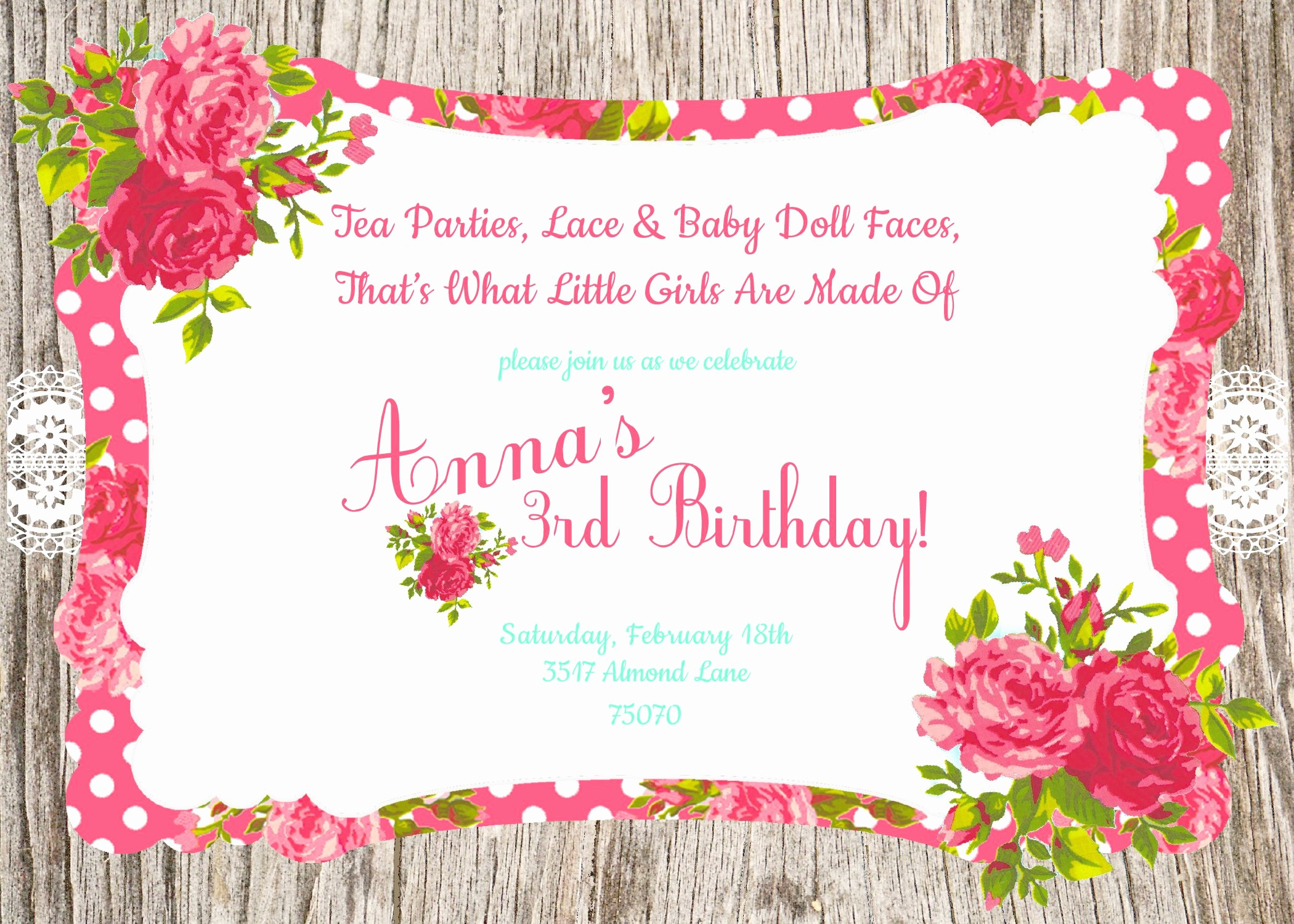 Birthday Party Invitation Card Template Fresh Invitation Birthday Card Invitation Birthday Card