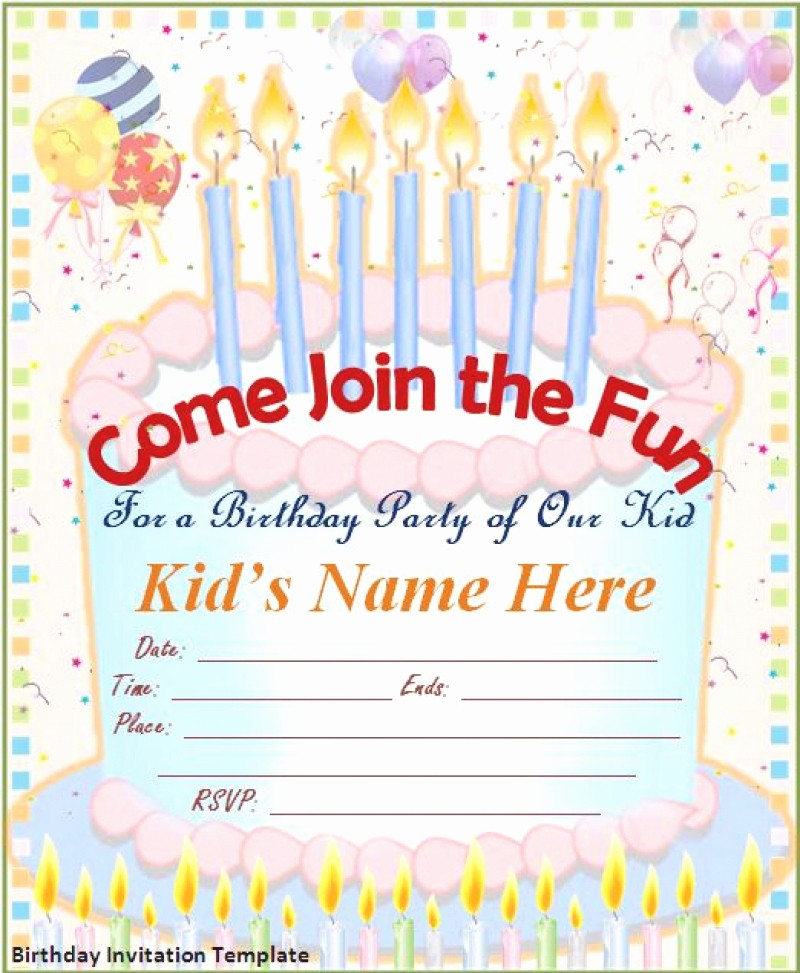 Birthday Party Invitation Card Template Inspirational Free Birthday Card Invitation – orderecigsjuicefo