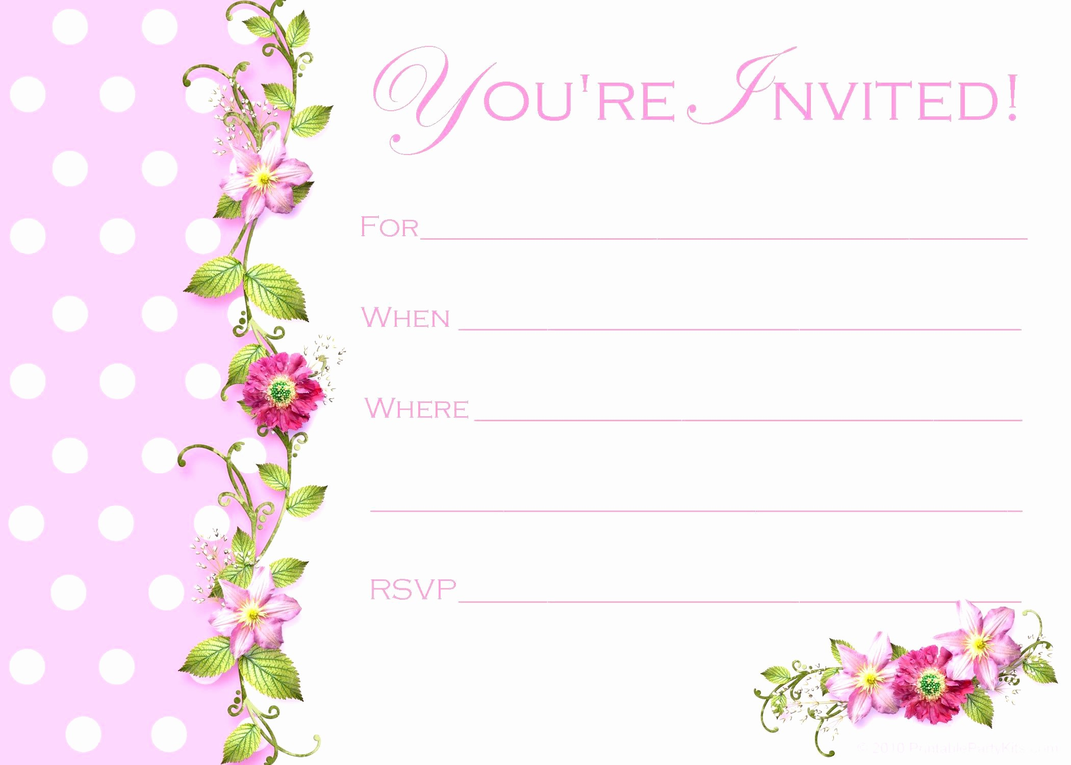 Birthday Party Invitation Card Template Lovely Birthday Invitation Happy Birthday Invitation Cards