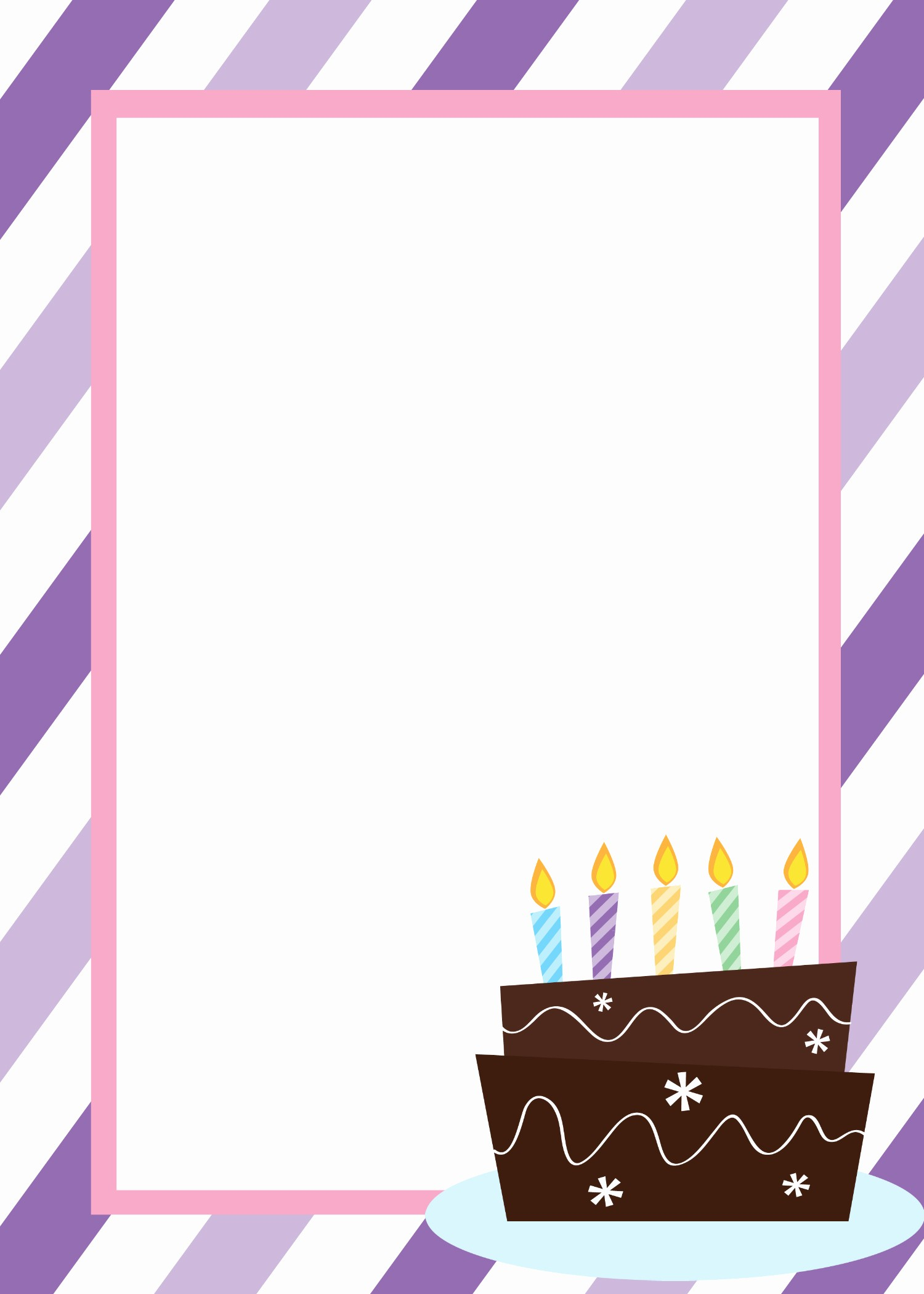 Birthday Party Invitation Card Template Lovely Free Printable Birthday Invitation Templates