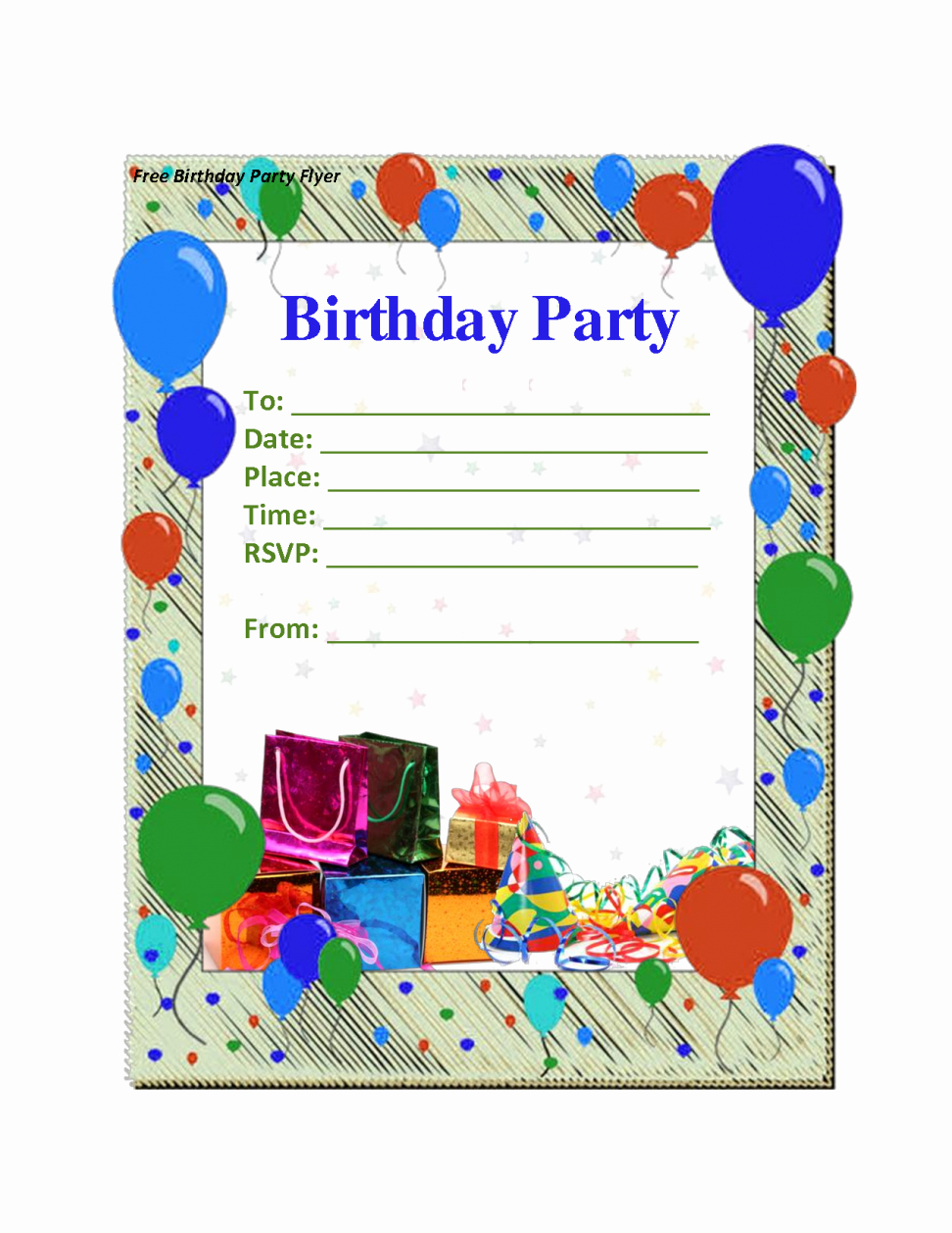 Birthday Party Invitation Card Template Unique Free Printable Kids Birthday Party Invitations Templates
