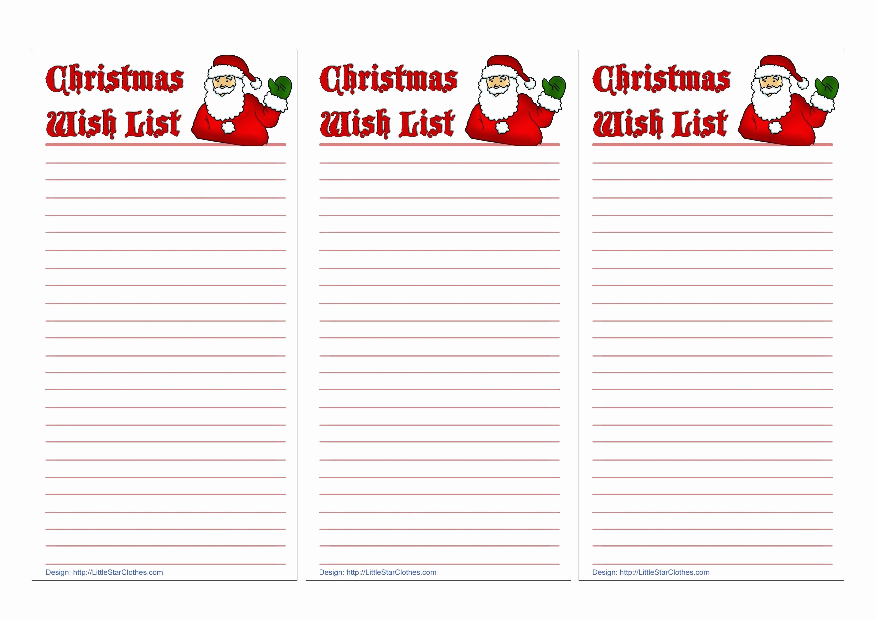 Birthday Wish List Template Printable Elegant Birthday T List Template thevillas