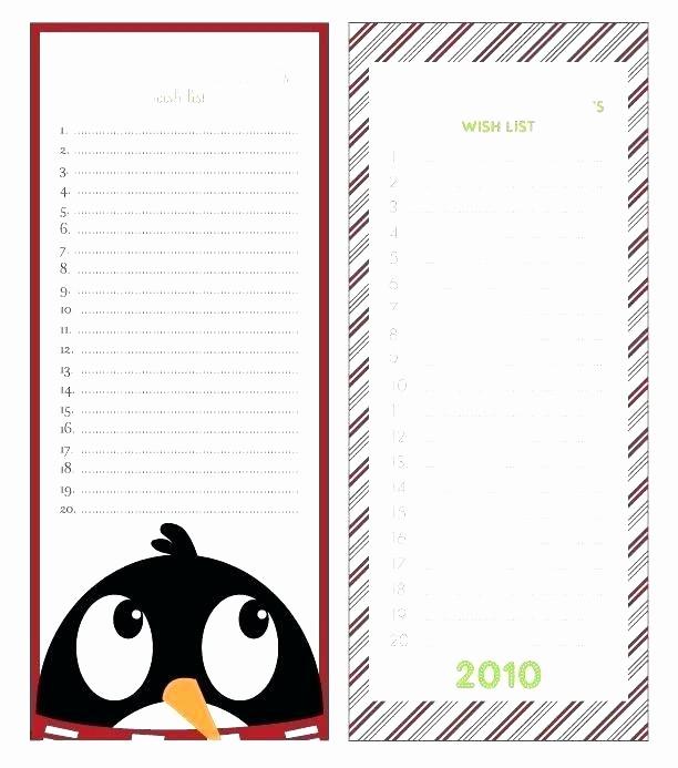 Birthday Wish List Template Printable Inspirational Birthday Wish List Template Fresh Printable Word Christmas