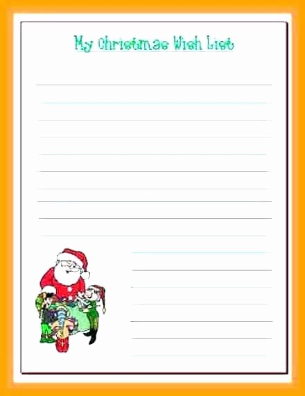Birthday Wish List Template Printable Lovely Wish List Template for Santa Wishlist – Tatilvillam