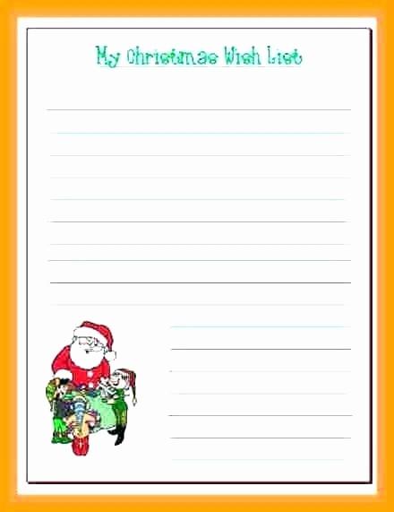 Birthday Wish List Template Printable Lovely Wish List Template for Santa Wishlist – Tatilvillam
