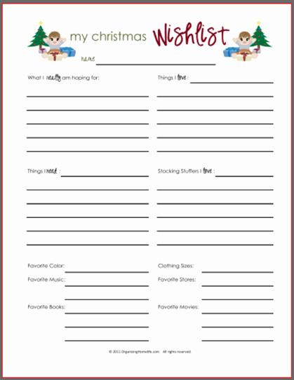 Birthday Wish List Template Printable Luxury 6 Best Of Teacher Wish List Printable Teacher