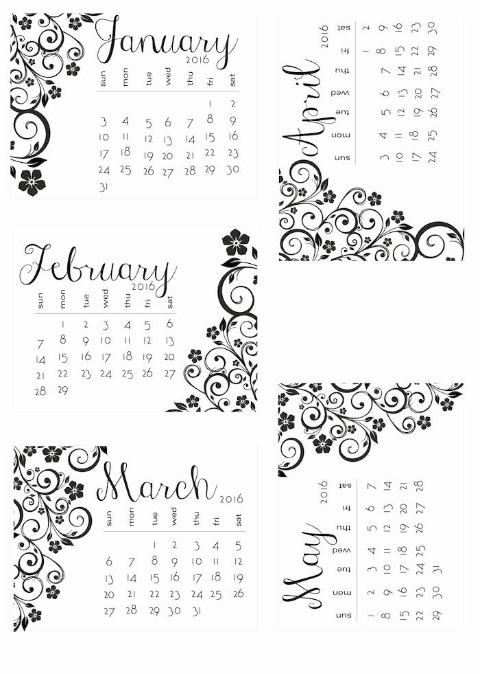 Black and White Calendar Template Beautiful Black and White Calendars 170 Best Calendarios