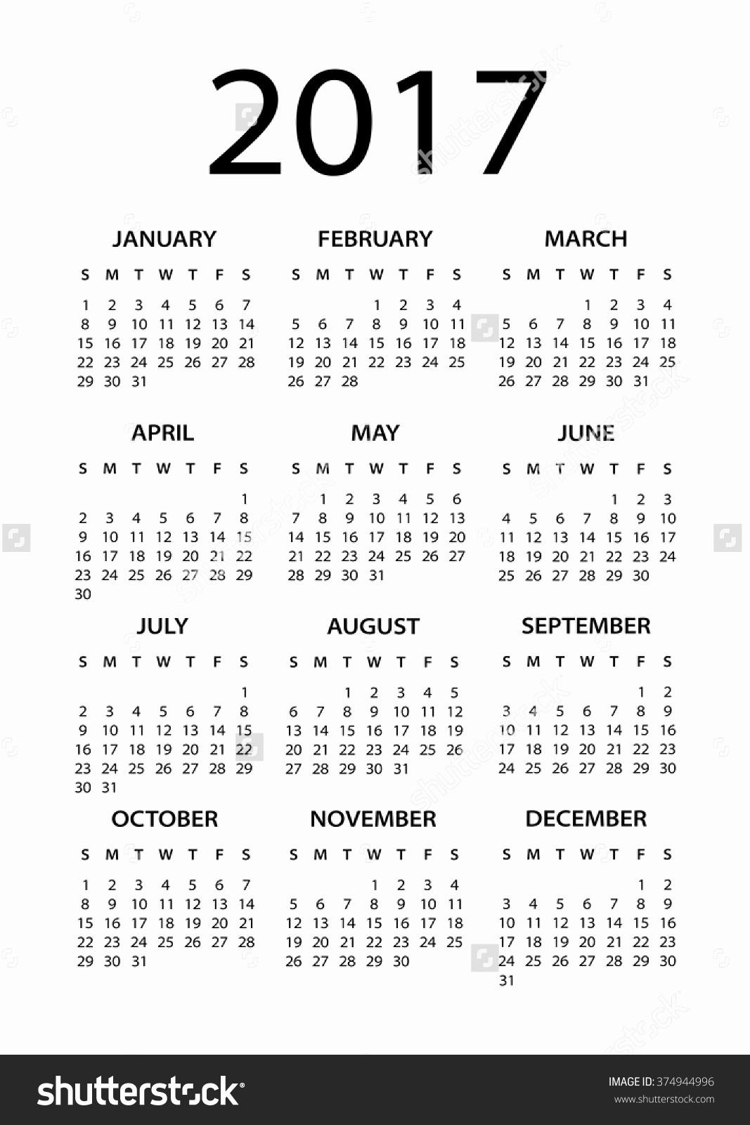 Black and White Calendar Template Beautiful December 2017 Calendar Black and White