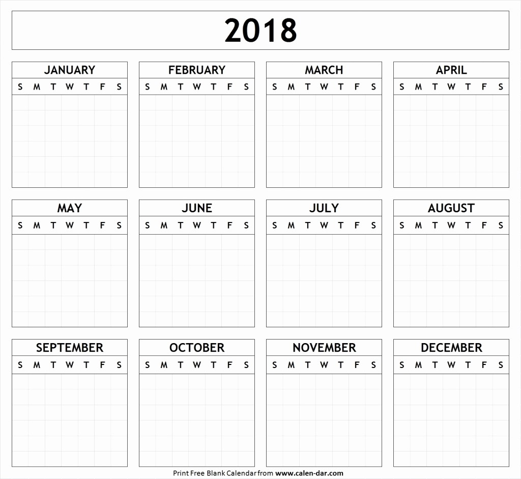Black and White Calendar Template Best Of Black and White Calendar 2018 Template