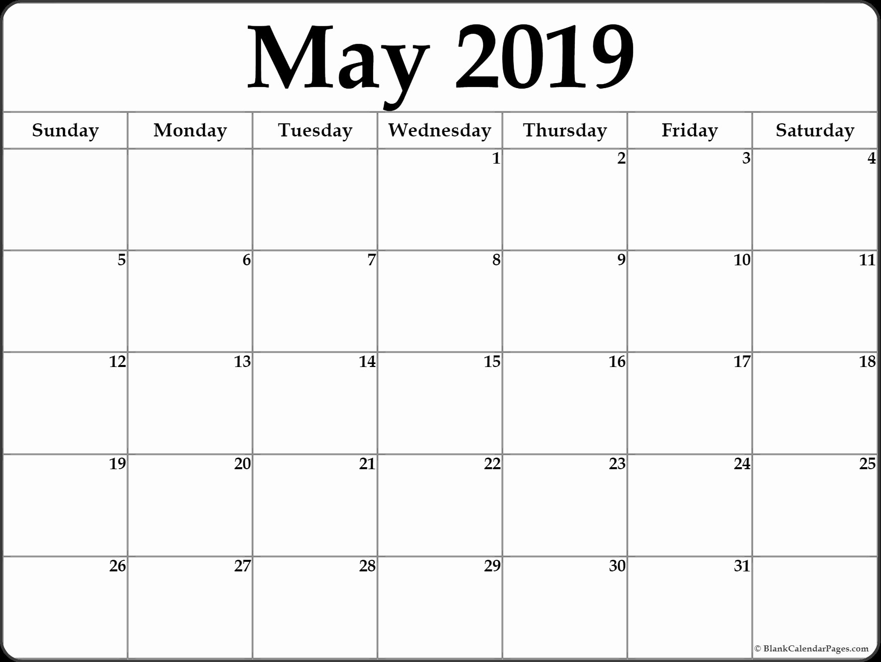 Black and White Calendar Template Elegant May 2019 Calendar Printable Template Site Provides