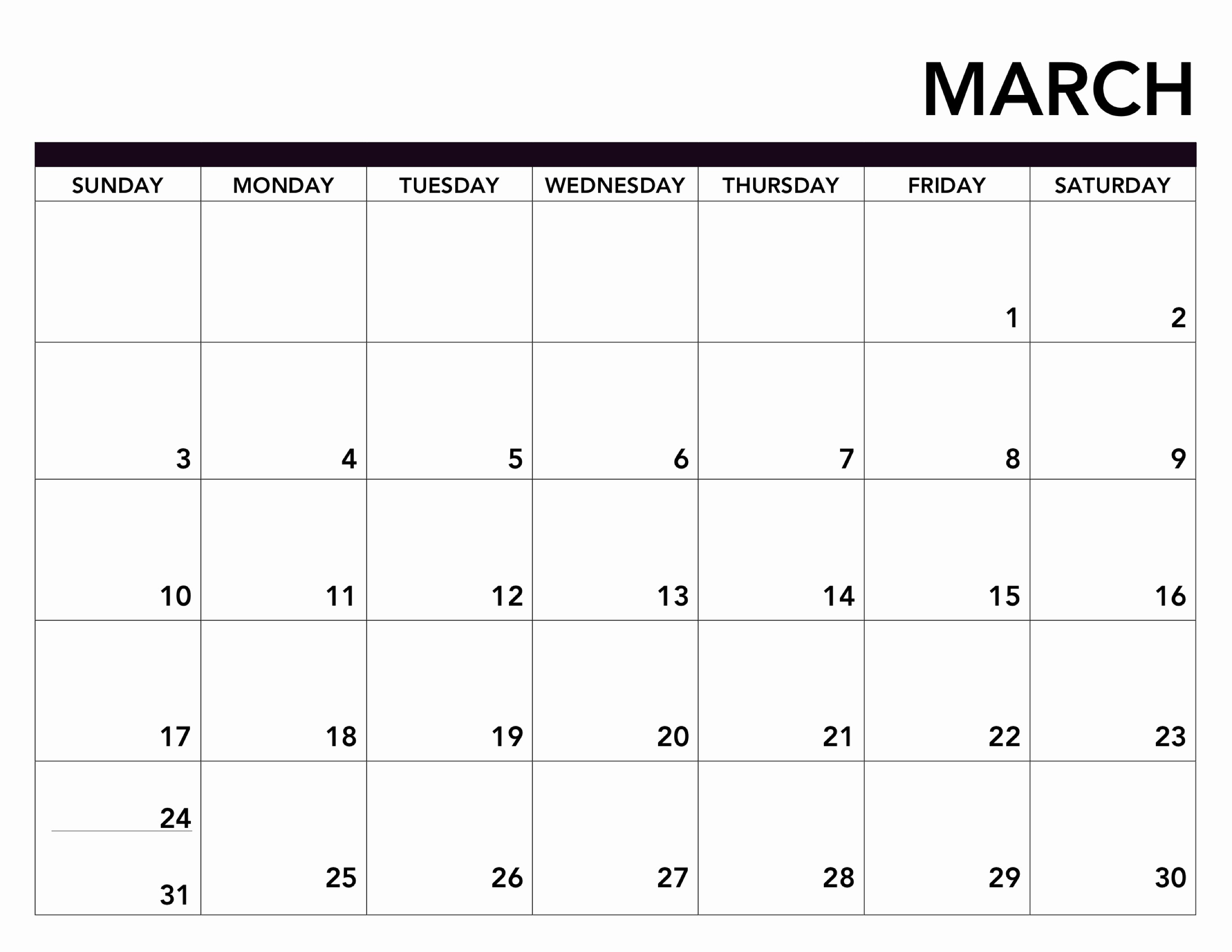 Black and White Calendar Template Fresh 2019 Printable Calendar Free Pages Paper Trail Design