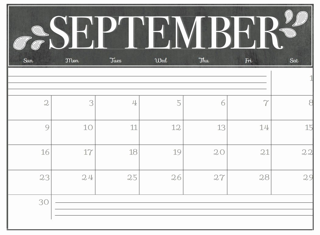 Black and White Calendar Template Fresh Printable Calendar 2018 Cute Black and White