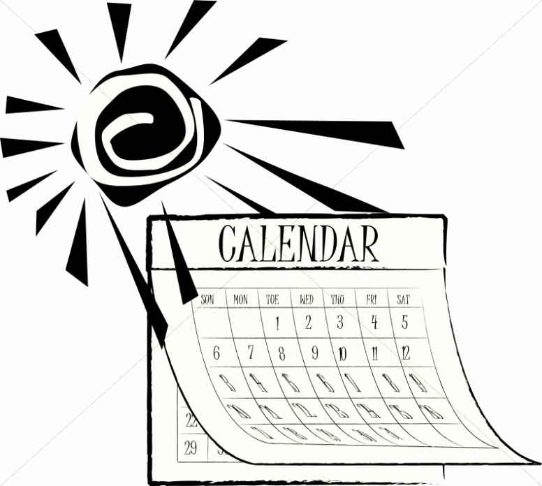 Black and White Calendar Template Lovely 2016 Black and White Clipart Clipart Suggest