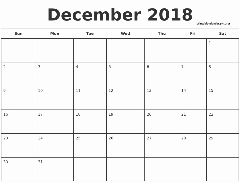 Black and White Calendar Template Unique December Calendar with Us Holidays 2018 Cute Black and