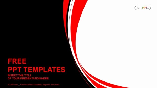 Black and White Powerpoint Template Elegant Abstract Red and Black Wavy Background Powerpoint Template