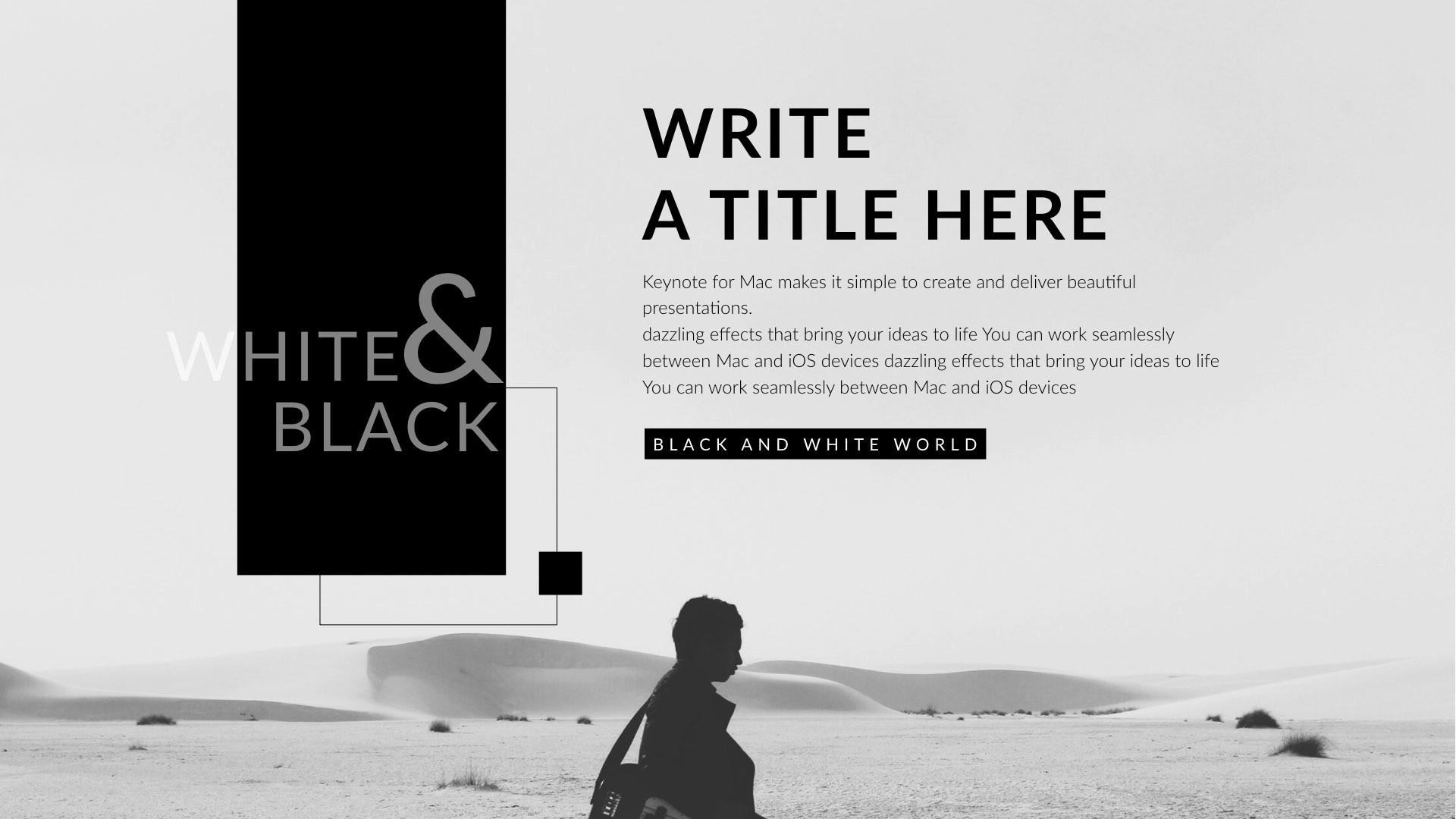 Black and White Powerpoint Template Elegant Black & White Clean Keynote Template by 5yue