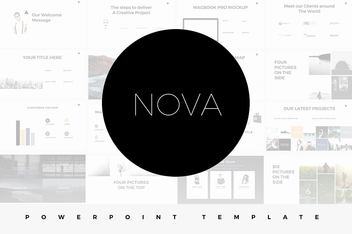 Black and White Powerpoint Template New 17 Minimalist Powerpoint Templates for Clean & Simple