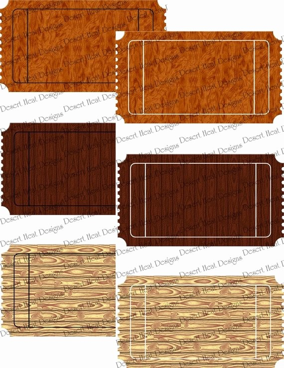 Blank Admit One Ticket Template Awesome Blank Movie Ticket Admit E Templates Woodgrain Set 1