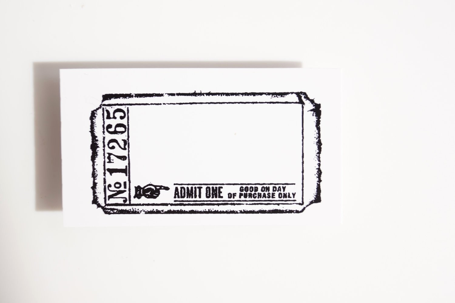 Blank Admit One Ticket Template Fresh Blank Admit E Ticket Stamp Rubber Cling Mounted Stamp
