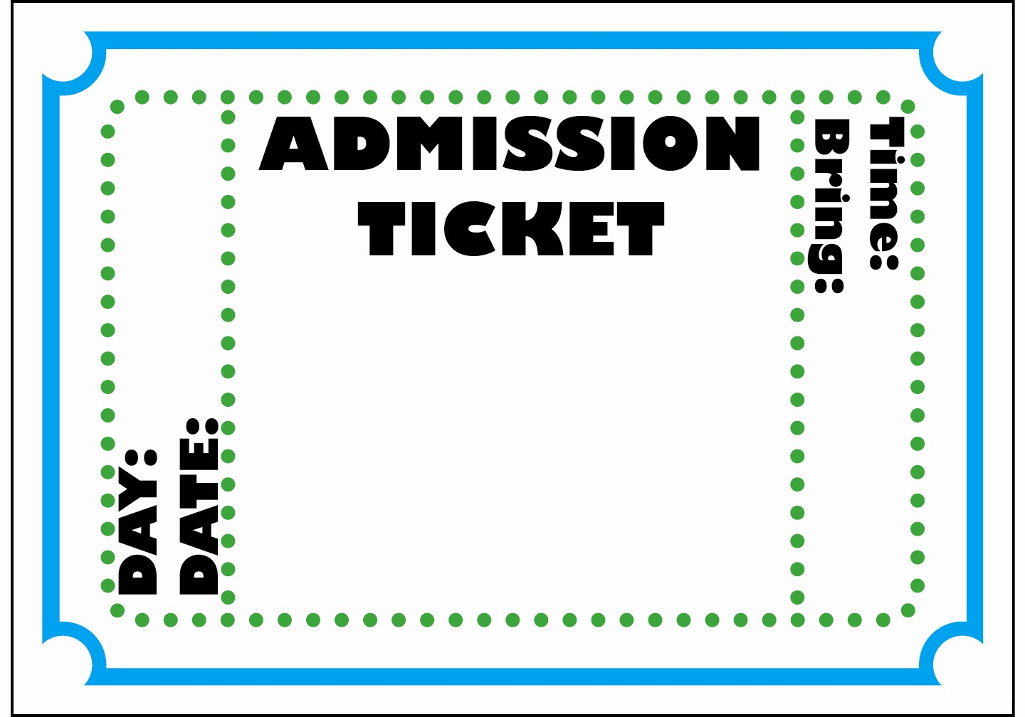 Blank Admit One Ticket Template Lovely Free Printable Admit E Ticket Template Clipart Best