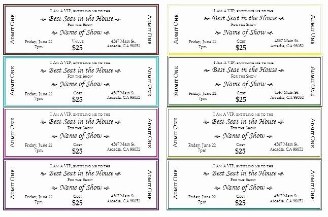 Blank Admit One Ticket Template Luxury Blank Admit E Ticket Template for Boyfriend event