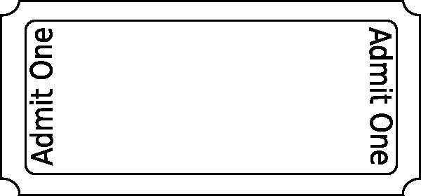 Blank Admit One Ticket Template Luxury Free Printable Admit E Ticket Template Clipart Best