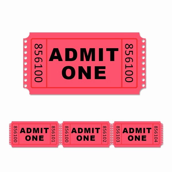 Blank Admit One Ticket Template New 5 Best Of Admit E Ticket Template Printable