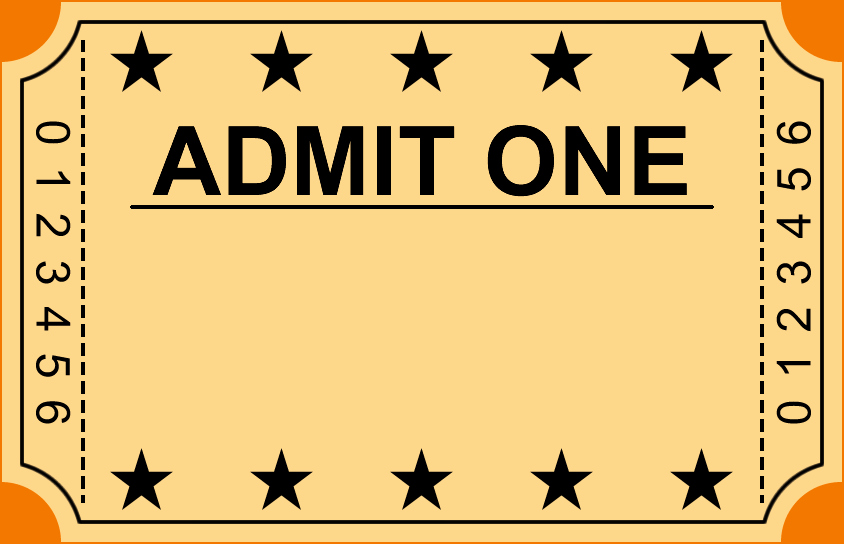 Blank Admit One Ticket Template New 6 Ticket Templates