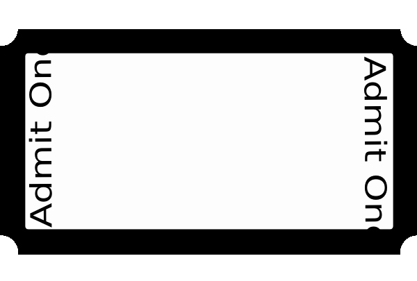 Blank Admit One Ticket Template New Blank Admit E Ticket Template Clipart Best Clipart Best