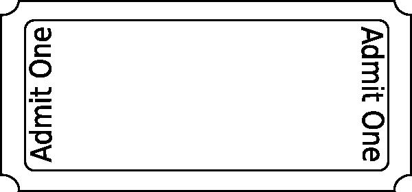 Blank Admit One Ticket Template New Ticket Clip Art at Clker Vector Clip Art Online