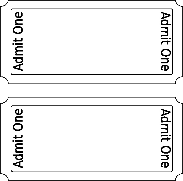 Blank Admit One Ticket Template Unique Admit E Ticket Template Clipart Best