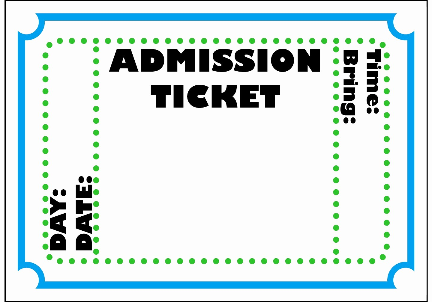 Blank Admit One Ticket Template Unique Admit E Ticket Template Example Mughals