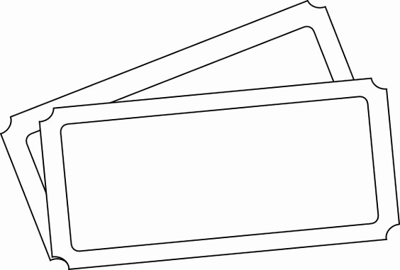Blank Admit One Ticket Template Unique Admit One Oversized Ticket Template