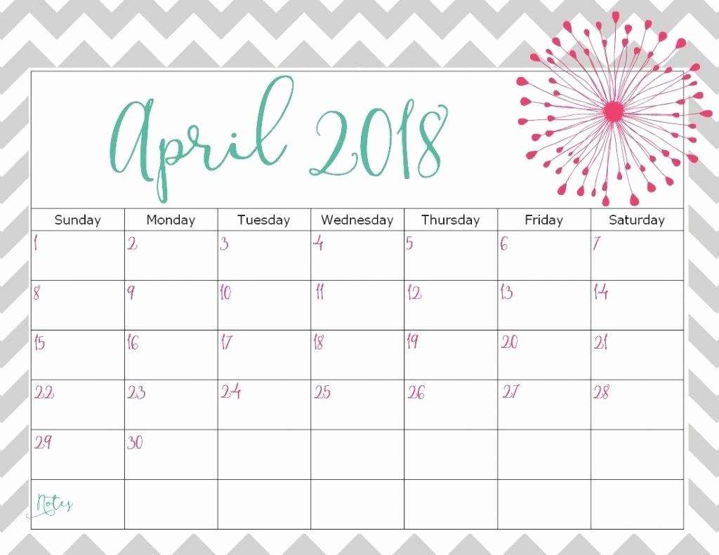Blank April 2018 Calendar Template Elegant April 2018 Calendar Template Printable Blank Wallpaper