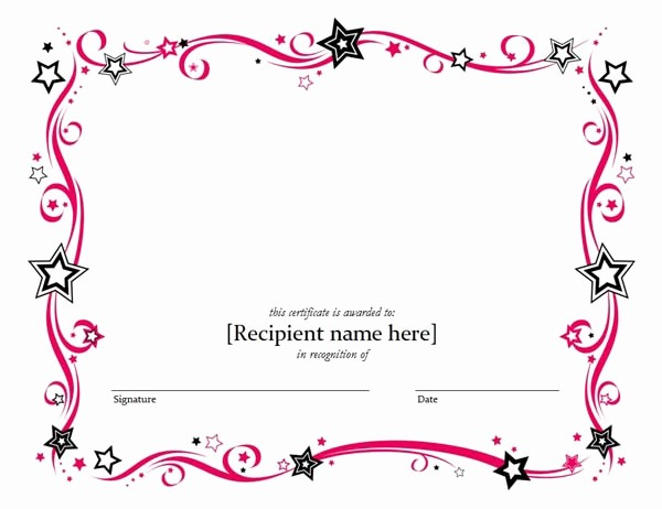 Blank Award Certificates to Print Awesome 5 Templates Doc Certificates