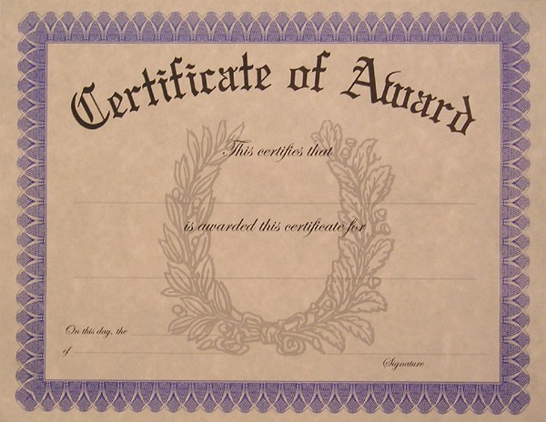 Blank Award Certificates to Print Awesome Blank Certificate Templates