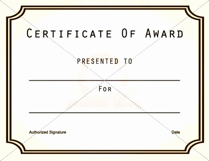 Blank Award Certificates to Print Awesome Blank Vector Printable Blank Certificates