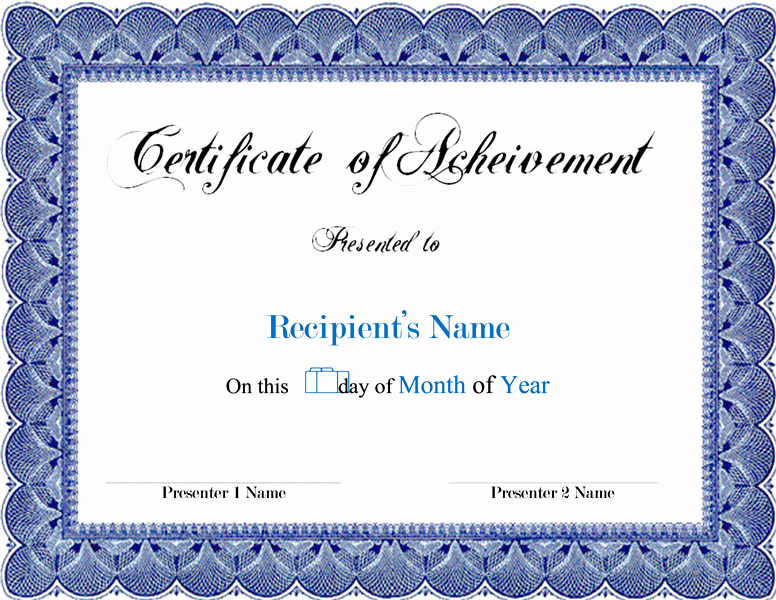 Blank Award Certificates to Print Beautiful Award Blank Certificates