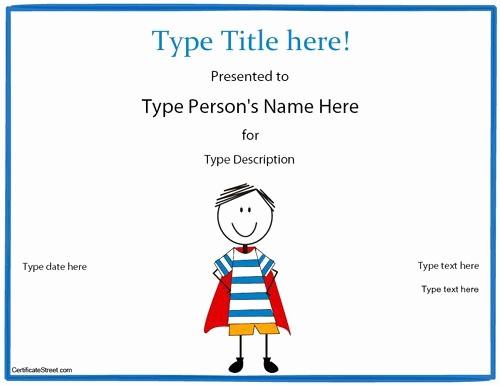 Blank Award Certificates to Print Beautiful Blank Certificate Hero Award Certificate Template