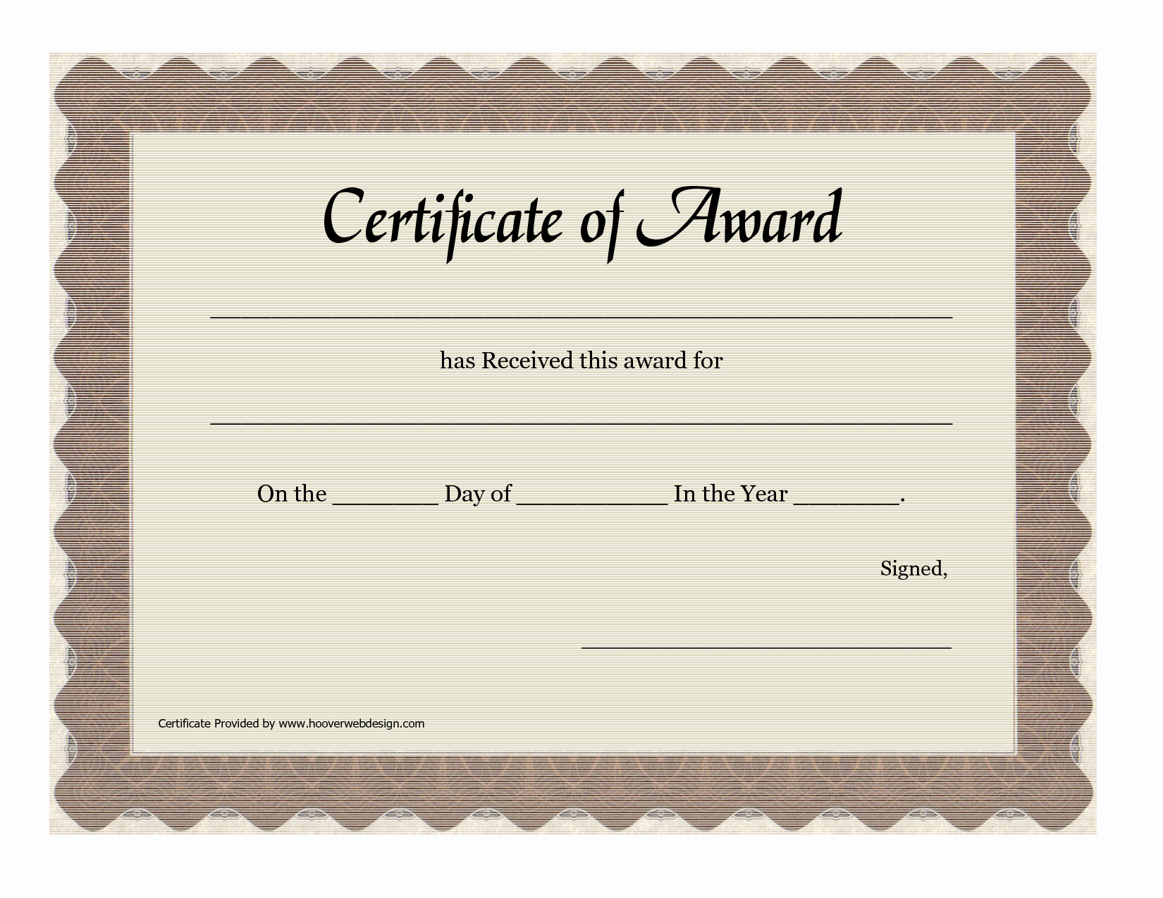 Blank Award Certificates to Print Best Of Free Printable Blank Award Certificate Templates