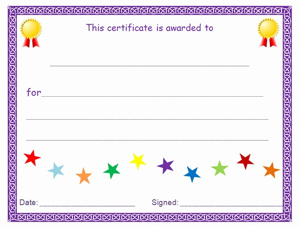 Blank Award Certificates to Print Best Of Printable Award Certificate Templates