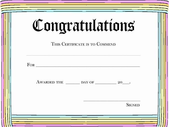 Blank Award Certificates to Print Elegant 5 New Blank Certificate Awards