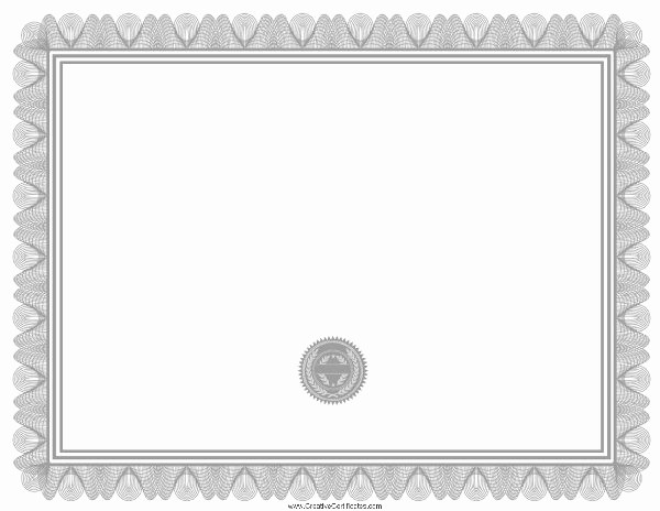 Blank Award Certificates to Print Elegant Printable Blank Award Certificate Templates