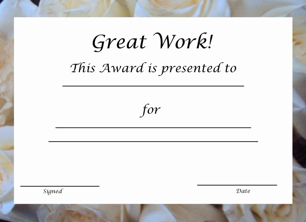 Blank Award Certificates to Print Fresh 29 Printable Award themes Certificates
